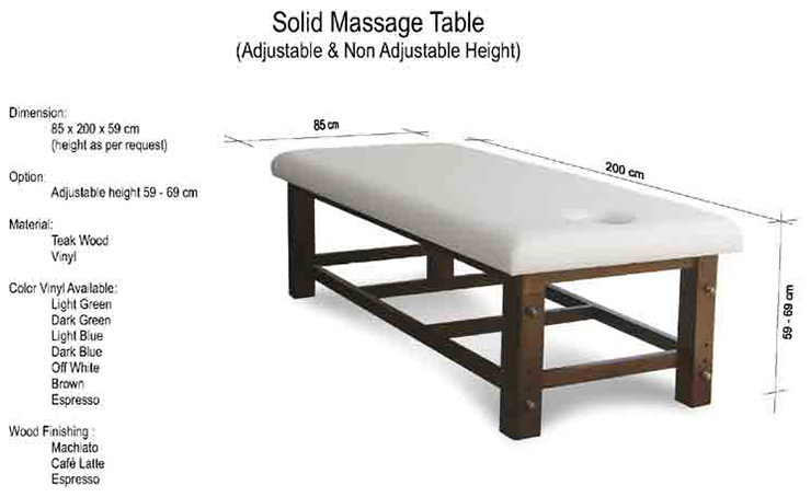 Solid Massage Table